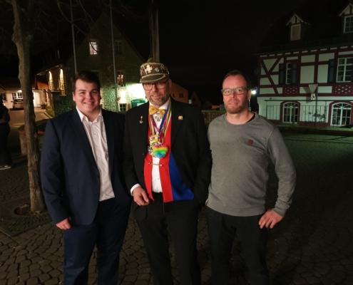 Auf dem Neujahrsempfang: Unser Fraktionsvorsitzender Sven Seckler (rechts), unser Beigeordnete Alexander Schott (Mitte) und unser 1. Vorsitzender, Eric Schmahl (links)